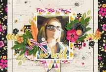 Studio Flergs Inspiration / Some gorgeous pages, using Studio Flergs digutal scrapbooking products & designs.