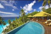 Fregate Island Private / A piece of paradise in the inner Seychelles, Fregate Island Private features lush forest, wild fauna, and unparalleled coastline; one of its seven beaches is acclaimed to be amongst the top ten worldwide. The 16 residences across the island offer ultimate seclusion, each with a private terrace and infinity pool.