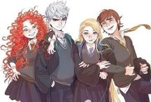 The Big Four / Jack Frost, Hiccup, Merida and Rapunzel... and called The Big Four. Love them? Welcome, you're my friend! ^^