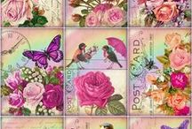 Decoupage, printable / Decoupage ideas, printatable backgrounds and beautiful pictures