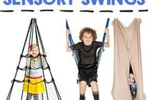 Children Need Swings / Children of every age love to swing, and it's good for them, too! For kids with low muscle tone, poor coordination, sensory sensitivity or other issues, swinging at home is a natural way to both build strength and recuperate. At Amajoy we help you find the swing that is right for your child, your home, and your budget.