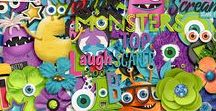 #believeinmagic: MONSTER MASH / Monsters Inc inspired. #believeinmagic digital scrapbooking designs by Studio Flergs & Amber shaw at Sweet Shoppe Designs http://www.sweetshoppedesigns.com/sweetshoppe/product.php?productid=35122&cat=619&page=1
