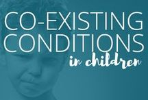 Co-Existing Conditions / The vast majority of individuals with ADHD or autism have at least one more co-existing condition, such as depression, anxiety, OCD, ODD, learning disabilities, bipolar disorder, and more.