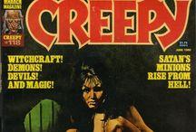 Creepy comics book