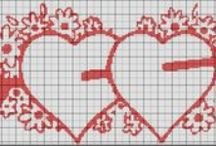Cross Stitch Hearts / by Kate Sprague