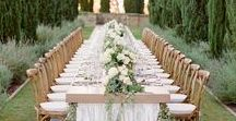 Tablescapes / Get inspired to design your wedding reception tables with these photos. We certainly did!