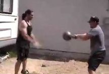 Crazy Kettlebell Stuff / Throwing, tossing and juggling giant kettlebells!  #kettlebell #kettlebells #russiankettlebells #girya #girevik #strength #weightlifting #endurance #justdoit