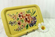 Tole trays and serving trays / by Betty McNeal