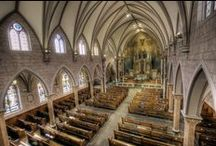 Traditional Houses of Worship / Traditional churches and synagogues.