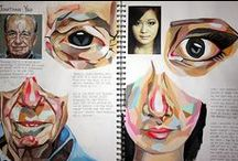 Creative Sketchbook pages / Here you will find some examples of high quality sketchbook pages to be inspired by.