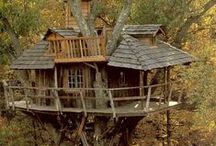 Treehouses / I have always wanted to have a own secret treehouse. These are so cool!