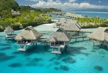 Bora Bora ~ The Jewel of the South Seas / Undoubtedly the most famous island in Polynesia, Bora Bora is a place of remarkable beauty, secluded luxury, and turquoise waters. This tiny gem receives in its warm embrace all romantics and island enthusiasts who come to experience what a true tropical paradise should be.