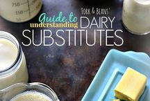 Dairy Free Substitutes / Substitutes for cheese,milk, cream, and all things dairy. Check these out for your dairy free diet