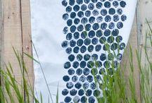 Kankaanpainantaideoita - Textile printing