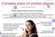 Porteo seguro / Imágenes de como deberíamos portear a nuestros bebés