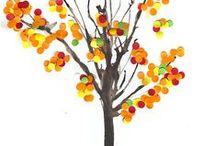 Les - listy, plody, stromy