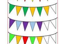 feest (kleur- en werkbladen)