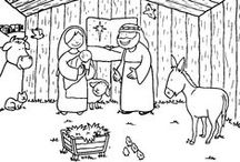 geboorte Jezus (kleurplaten)