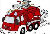 brandweer kleur-/werkbladen