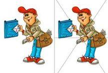 post (kleur- en werkbladen)
