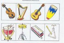 muziek (kleur- en werkbladen)