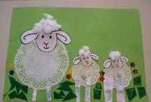 lente ( schapen en lammetjes)