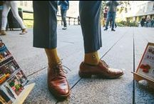 Socks for Education / Look dapper and do it for the kids with our mustard and navy education socks. Each pair donates the equivalent of two books to schoolchildren in Asia through our impact partner, Room to Read.