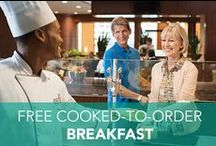 Free Breakfast / Mornings area lot less morning-ish when every guest gets a free cooked-to-order breakfast!