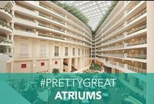 Embassy Atriums / Unwind with a cocktail, co-work, or enjoy some quality time with the family in Embassy Suites #PrettyGreat atriums!