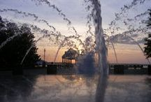 Charleston Area Wedding Locations / Charleston has some of best venues in the  southeast, giving you views of the harbor, the ocean, flowers and beautiful fountains.  Hampton Park, Waterfront Park with the Pineapple Fountain, White Point Gardens with a Gazebo that is near the Battery.  All with special spots to get married with family and friends or just the two of you.