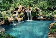 Waterfall for koi pond Design ( дизайн водоёмов, водопадов)