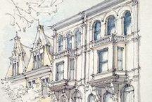 Watercolor and pencil (карандаш и акварель)