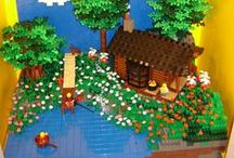 LEGO Log Cabins by Mike Gallagher from GallaghersArt.com