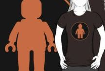 RB T-shirts Minifig & Brick Themed on Redbubble by Chillee Wilson from Customize My Minifig / These are my minifig & brick themed adult T-Shirts on Redbubble / by Chillee Wilson
