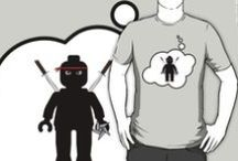 Bubble-Tees.com (Minifig & Bricks) / Bubble-Tees account on Redbubble, by Chillee Wilson ni a range of Minifig & Brick designs, great  range of Clothing & Stickers with Speech and Thought Bubble messages / by Chillee Wilson