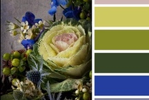 Palette Inspiration / Colors I love to see together in home decorating, clothing, and art.