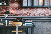 Industrial/Rustic Design / Creative interiors using industrial or urban items