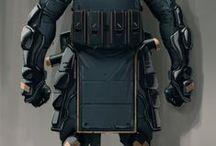 Concept Sci-fi Suit / sci-fi cyberpunk future suit armor costume robot cyborg mech