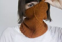 { Scarves & Cowls } / Necks are for wrapping in sweet wooly goodness. Also, holding up heads.