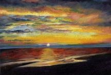 Landscapes / A selection of my drawings & paintings of landscapes, seascapes and skies.