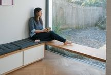 Built in benches / Built in benches for sitting and storage