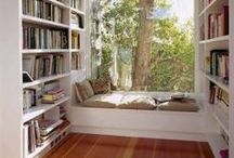 Book nooks / Lovely peaceful spots for reading books