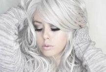 white/grey hair