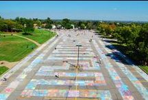 Great Greeley Chalk-a-Lot / Thousands of people came out to attempted a world-record chalk-art drawing in Greeley, Colorado.