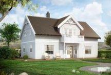 Kataloghus fra Norgeshus / Kataloghus fra Norgeshus i ulike stilarter. Husene kan tilpasses etter ønske.
