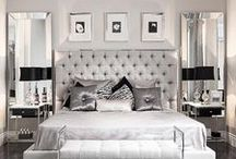 Luxurious Bedrooms. / Luxurious bedroom decor. Full of texture, and contemporary opulence.