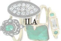 ILA / Ila and Vikas bring together unique creations that combine originality with the feel of everyday elegance that is ILA. Their collaboration produces jewelry that is a little edgy, yet graceful and stylish.  Made of oxidized silver, yellow or rose gold, often with diamond accents, ILA fine jewelry provides a contemporary look you will love. Available at Oster Jewelers and OsterJewelers.com.
