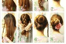 Beautiful Hairdo How-to's / Gorgeous hairstyles and braids, (almost) all with instructions for how to do it yourself!