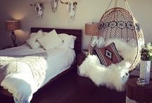 | Bedroom Bliss | / ~Cozy ~Warmth ~Plants ~Light ~Fairy Lights ~Layers ~Decoration ~Boho ~Gypsy ~White Space ~Blankets ~Creative ~Bedding ~Rustic