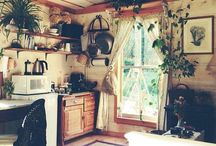 | Cooking Spaces | / ~bohemian ~kitchen ~plants ~wood cookers ~stove love ~ display ~design